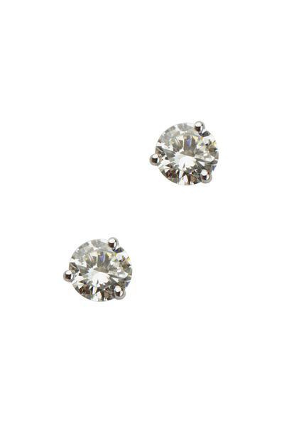 Louis Newman - White Diamond Stud Earrings