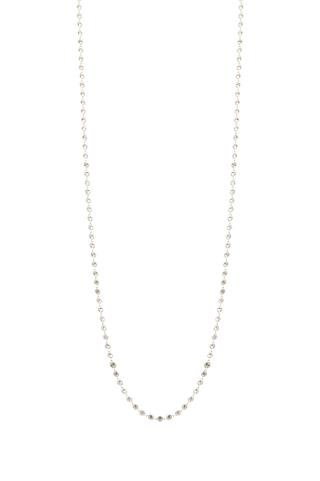 Platinum Diamond By Yard Chain Necklace