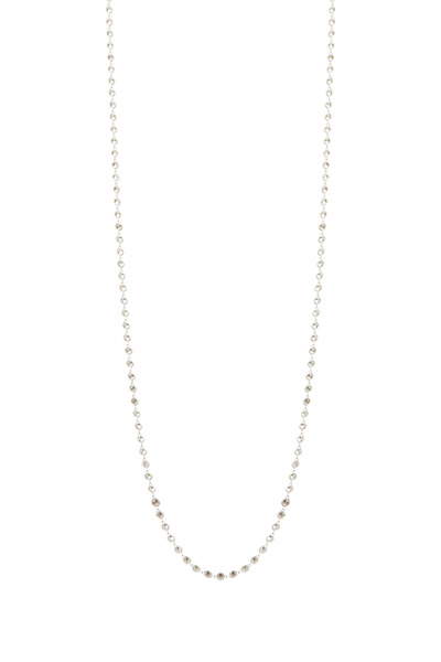 Louis Newman - Platinum Diamond By Yard Chain Necklace