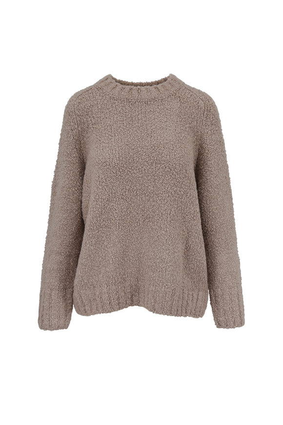 Vince Saddle Textured Wool Pullover
