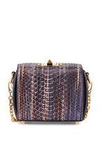 Alexander McQueen - Multicolor Python Small Box Bag With Chain