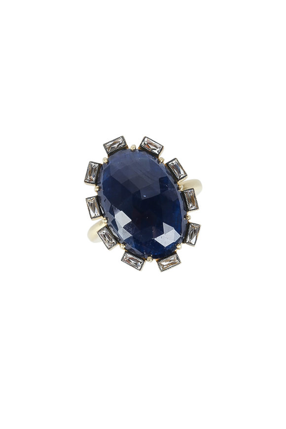 Sylva & Cie 18K Yellow Gold Sapphire & Diamond Ring