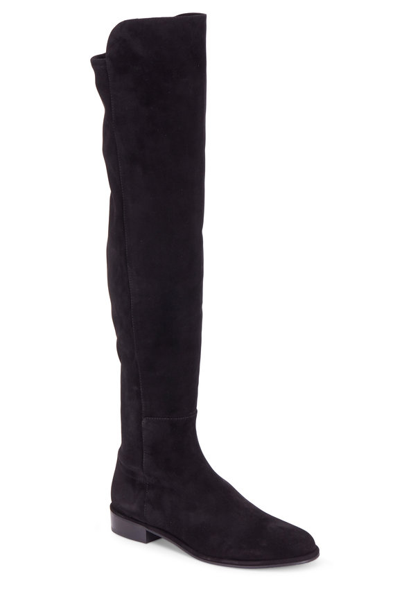 Stuart Weitzman Allgood Black Suede Over-The-Knee Boot
