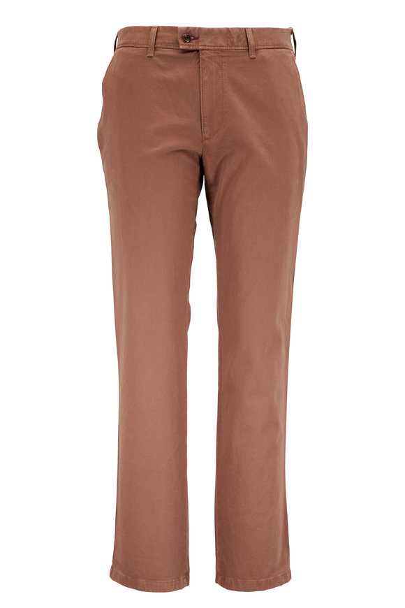Brax Evans Brown Flat Front Chino Pant
