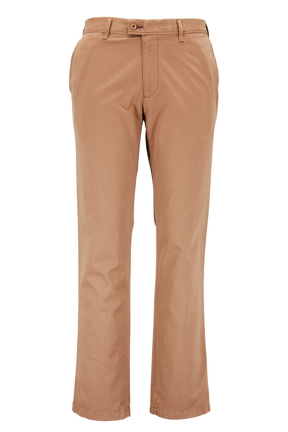 Brax Evans Camel Flat Front Chino Pant