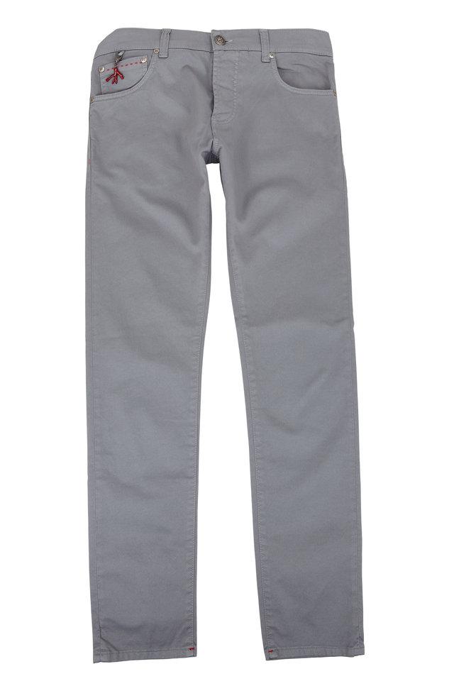 Gray Five-Pocket Pant