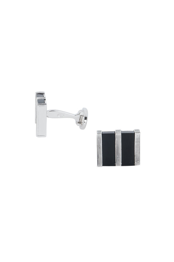 Jan Leslie Rectangular Black Onyx Cuff Links