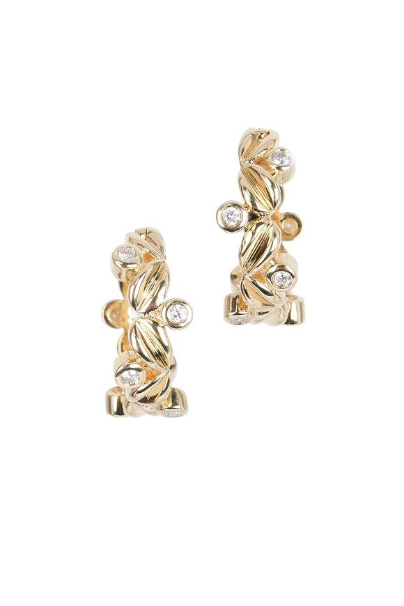 Temple St. Clair 18K Yellow Gold Diamond Olivia Earrings