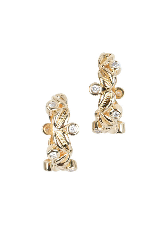 Temple St. Clair 18K Yellow Gold Diamond Olivia Earrings
