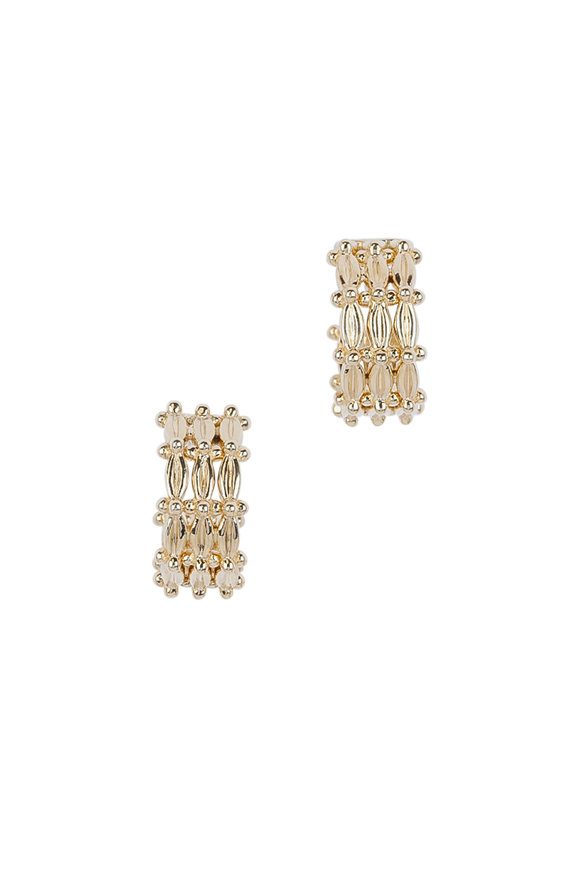 Temple St. Clair 18K Yellow Gold Vigna Hoops