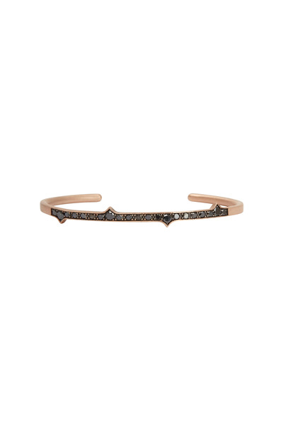 Sylva & Cie - Rose Gold Black Diamond Thorn Bracelet