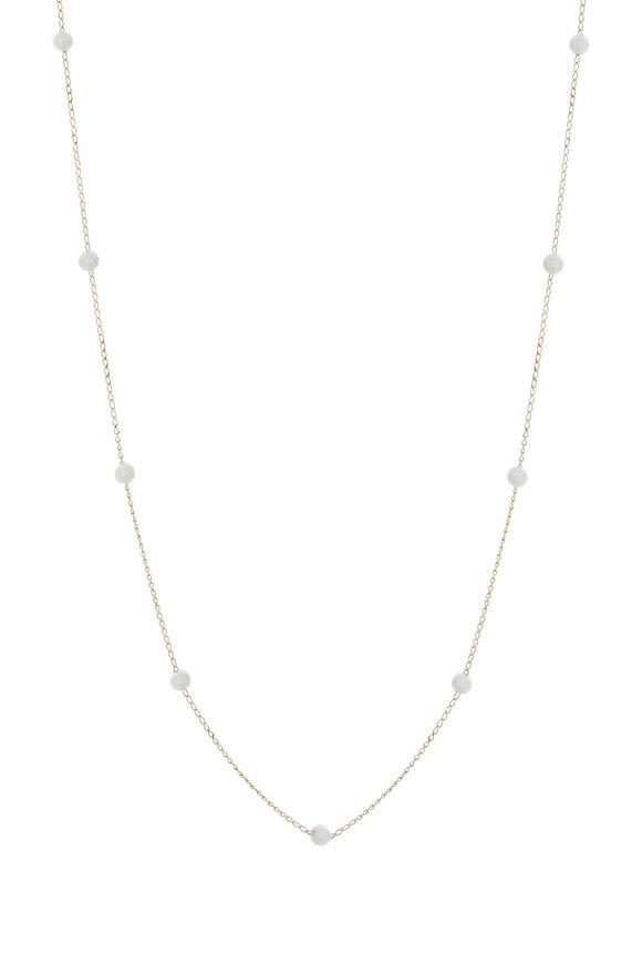 Mizuki 14K Gold Pearl Chain Necklace