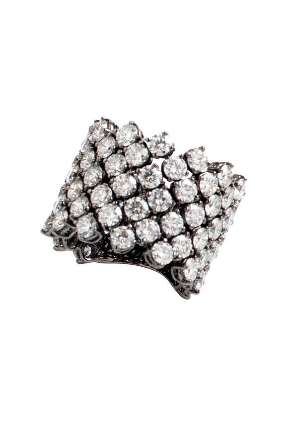 Bayco 18K Blackened White Gold Diamond Ring
