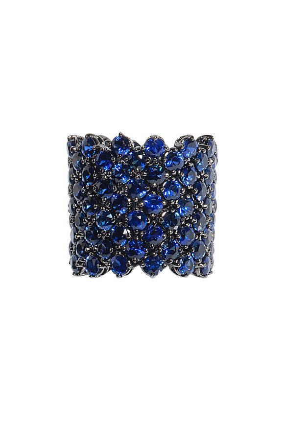 Bayco 18K Blackened White Gold Sapphire Ring