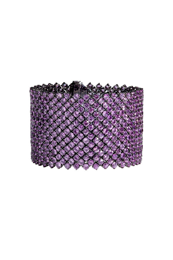 Bayco Platinum Pink Sapphire Bracelet