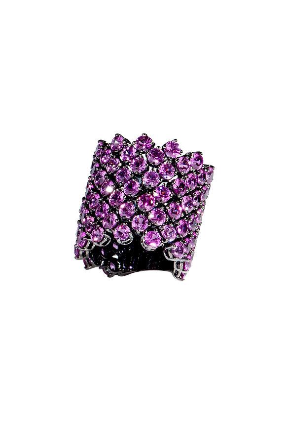 Bayco 18K Blackened White Gold Pink Sapphire Ring