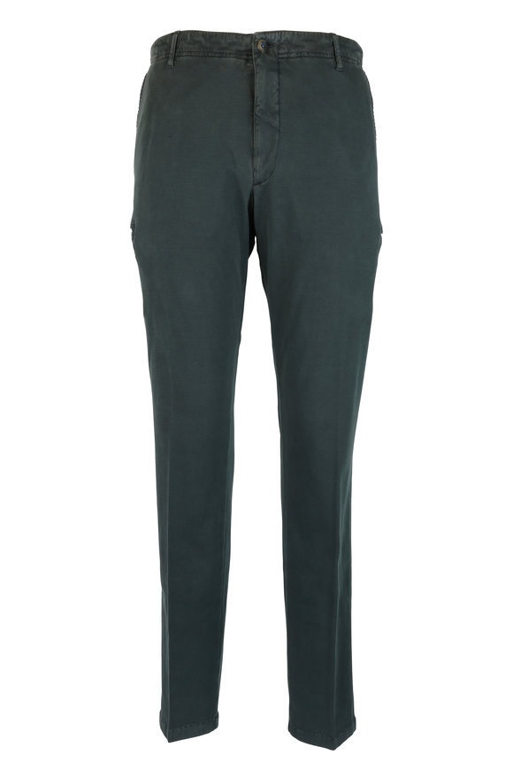 JW Brine Drake Forest Green Stretch Double Knit Cargo Pant