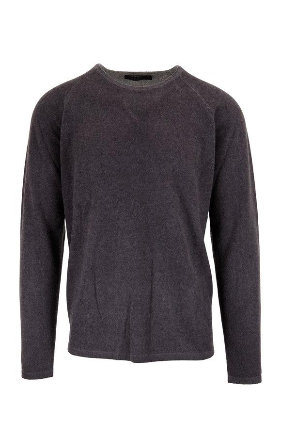 Raffi  Steel & Iron Gray Cashmere Reversible Sweater