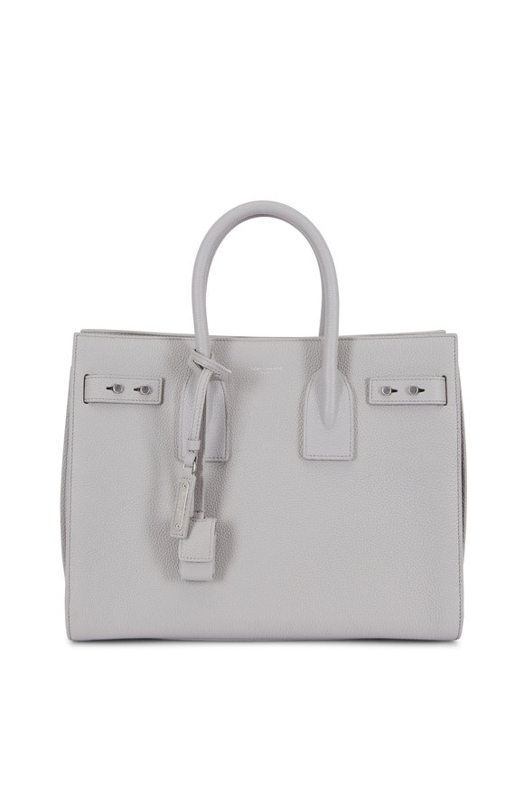 Saint Laurent Sac De Jour Gray Grained Leather Small Tote
