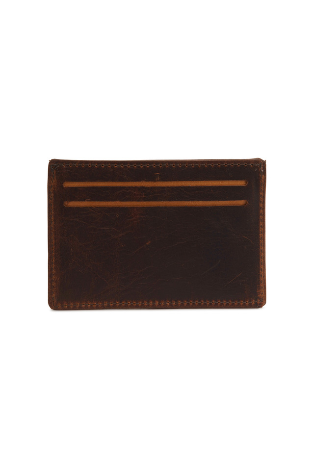 Brown Leather Card & License Case