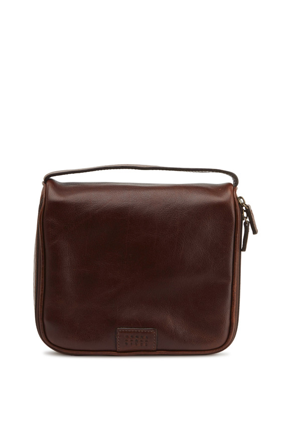 Moore & Giles Titan Milled Brown Leather Utility Case