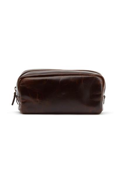 Moore & Giles - Brompton Brown Leather Mini Utility Case