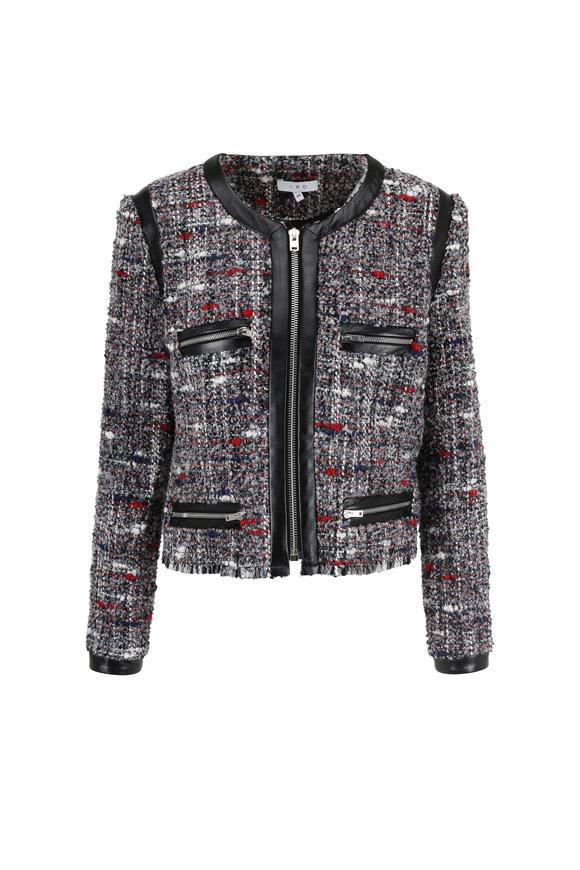 IRO Gray & Red Tweed Jacket