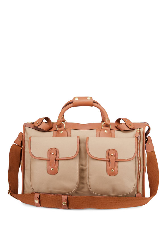 Ghurka Express Khaki Twill Weekender Bag