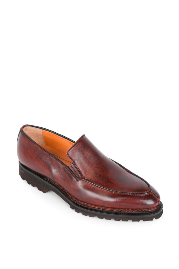 Bontoni Dome Brown Leather Loafer