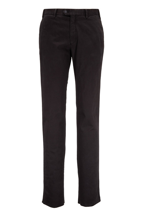 Hiltl Charcoal Gray Stretch Wool Contemporary Fit Pant
