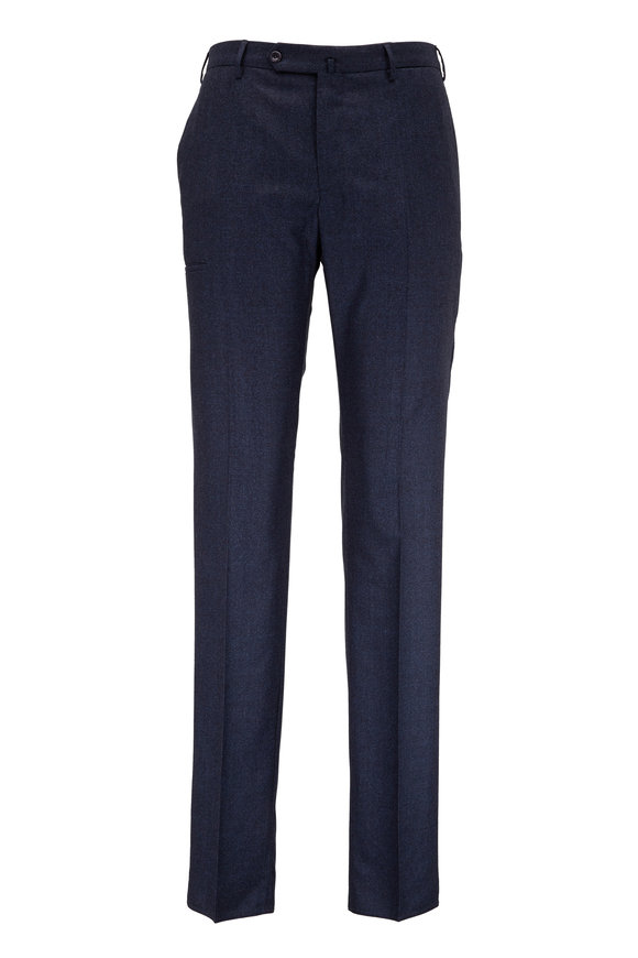 Incotex Navy Blue Techno Wool Modern Fit Pant