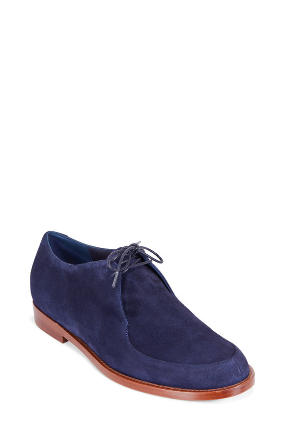 Mansur Gavriel Navy Suede Lace-Up Oxford