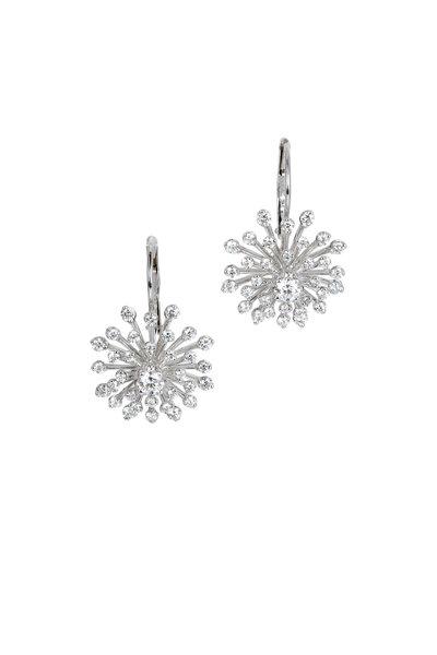 Kwiat - 18K White Gold Diamond Stella Earrings