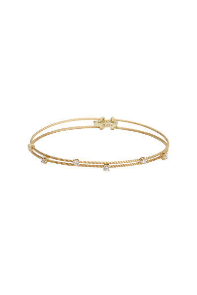 Paul Morelli - Yellow Gold Double Wire Diamond Bracelet
