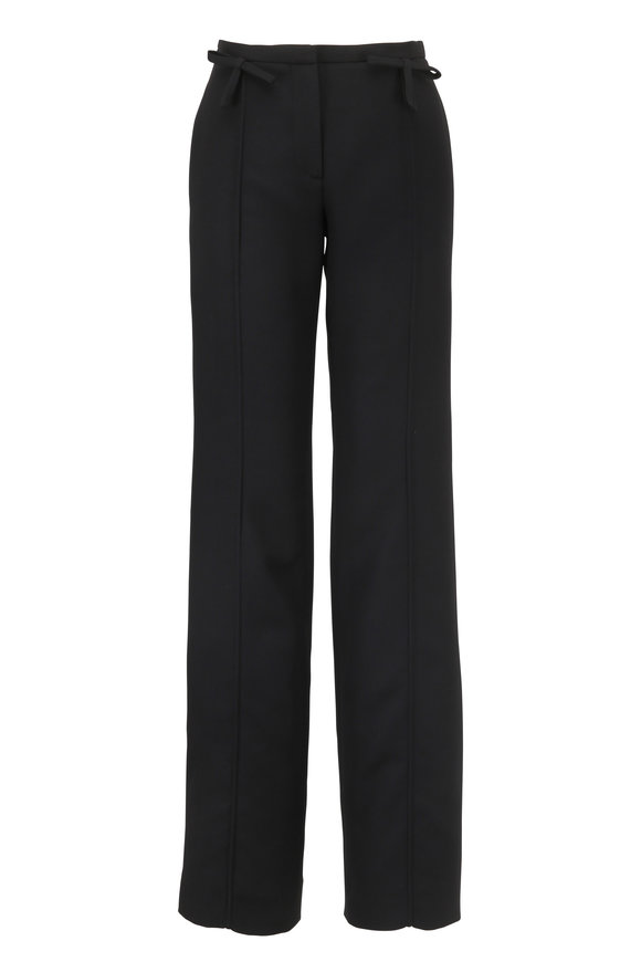 Valentino Black Pleated Bow Detail Pant
