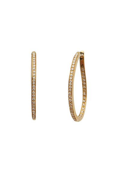Kathleen Dughi - White Gold Medium Diamond Oval Hoop Earrings