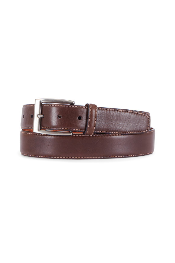 Trafalgar Trent Brown Leather Belt