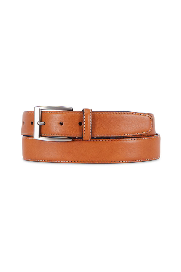 Trafalgar Trent Tan Leather Belt