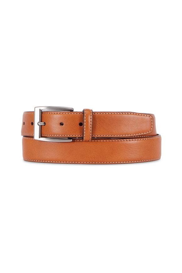 Trafalgar Trent Tan Leather Belt