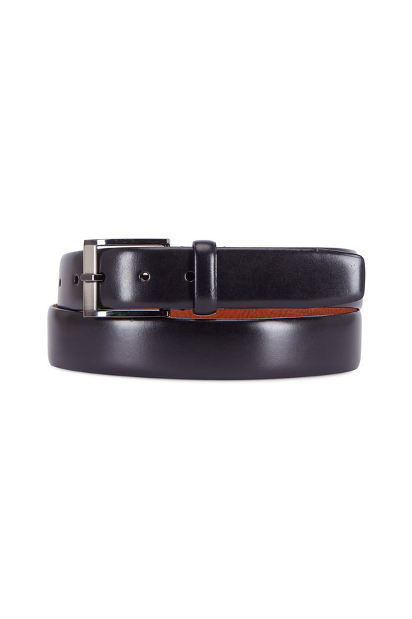 Matteo Black Leather Belt
