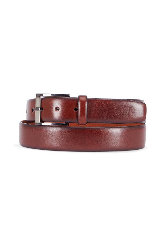Trafalgar Matteo Brown Leather Belt