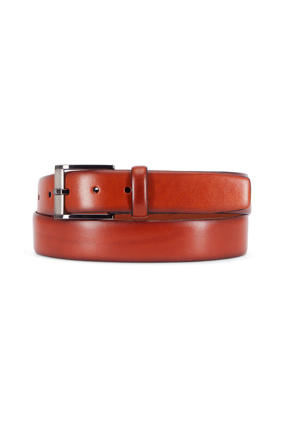 Trafalgar Matteo Tan Leather Belt