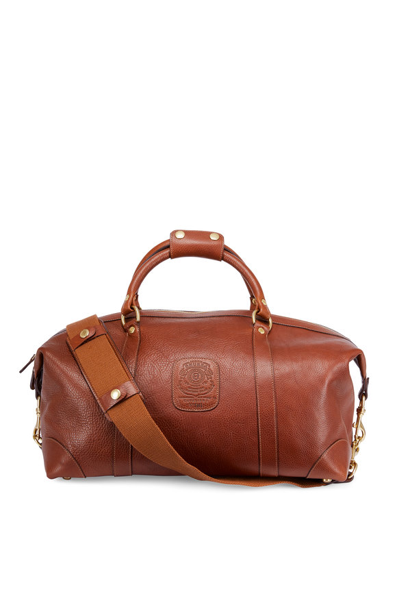 Ghurka Cavalier Vintage Chestnut Leather Duffle Bag