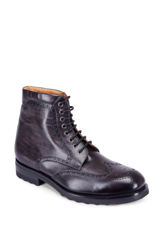 Magnanni Fairfax Dark Gray Wingtip Boot