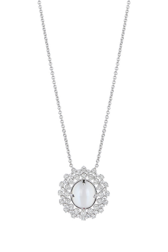 Paul Morelli 18K Gold Moonstone & Diamond Cluster Necklace