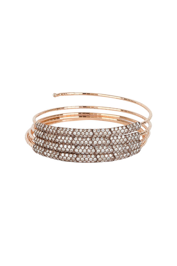 Mattia Cielo 18K Rose Gold Diamond Coil Bracelet