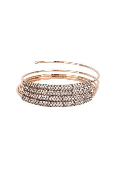 Mattia Cielo - 18K Rose Gold Diamond Coil Bracelet