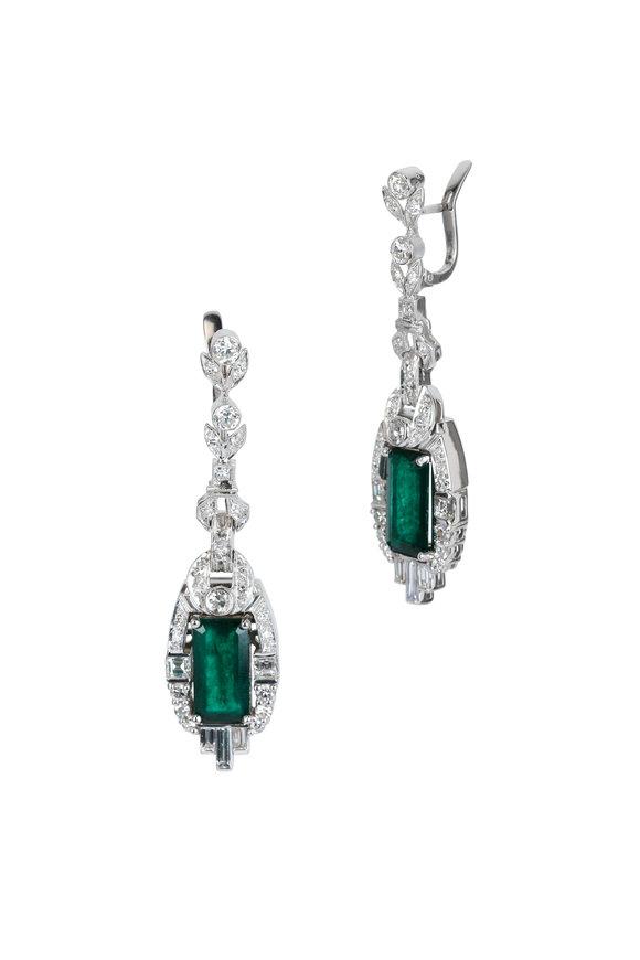 Louis Newman Colombian Emerald Earrings