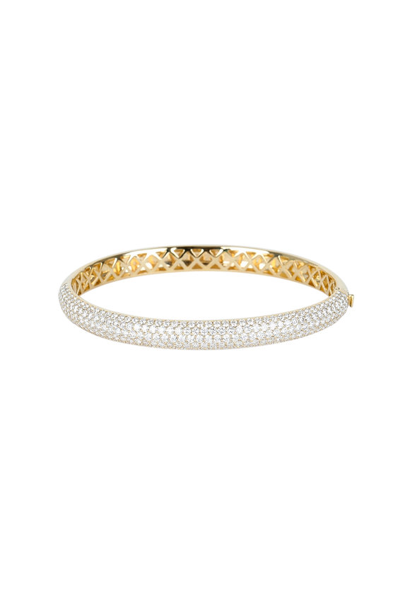 Kwiat 18K Yellow Gold Diamond Stackable Bangle