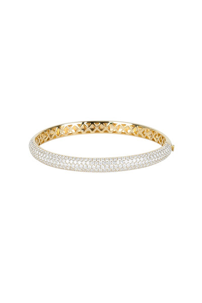 Kwiat - 18K Yellow Gold Diamond Stackable Bangle